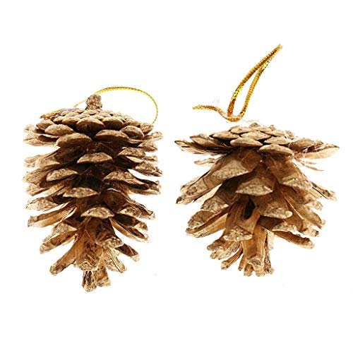Fizzy Tech Pinecones Baubles Hanging Christmas Tree Holiday Decoration Pine Cone 12 pc