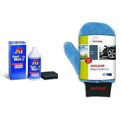 Preisvergleich Produktbild A1 Speed Wax Plus 3, 2730, 500 ml und ALCLEAR Felgenhandschuh