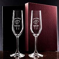 Copas de cava personalizadas para parejas - regalo de boda, aniversario o bodas de oro