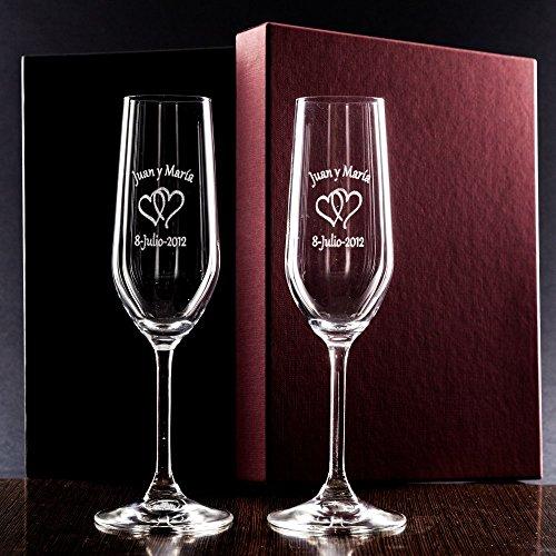 Copas cava personalizadas parejas - regalo boda, aniversario
