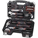 Maleta/juego de herramientas (46 piezas), de color negro-plateado, de acero de cromo y vanadio, destornilladores, martillo, alicates aislantes
