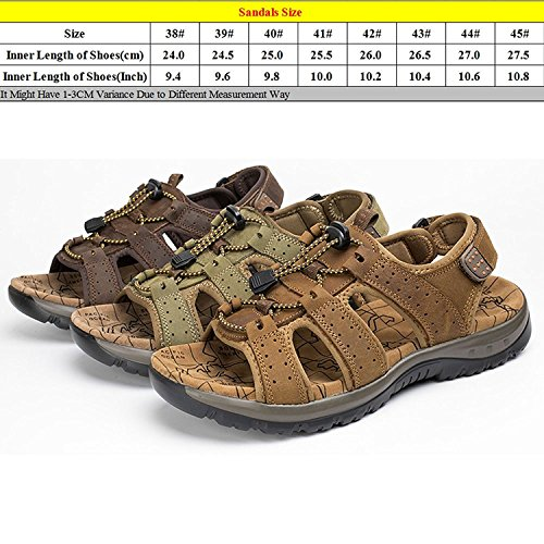 Zhuhaitf Fashion Mens Soft Shoes Athletic & Outdoor Sandals Breathable Wear Shoes with Shoelace brown