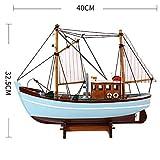 ZXX5211 Simulazione Modello di peschereccio Modello di Decorazione Stile in Legno massello Imbarcazione a Vela Modello Manuale Accessori Europei