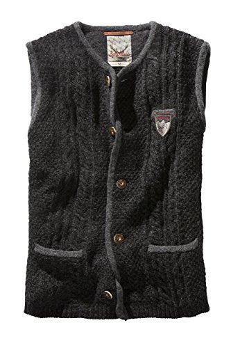 Stockerpoint - Herren Trachten Strickweste in verschiedenen Farbtönen, Josh, Größe:60;Farbe:Anthrazit