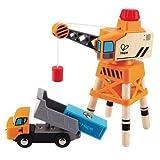 Hape Großer Kran mit Kipplaster Kranwagen Kinder Spielzeug Baufahrzeug E3715