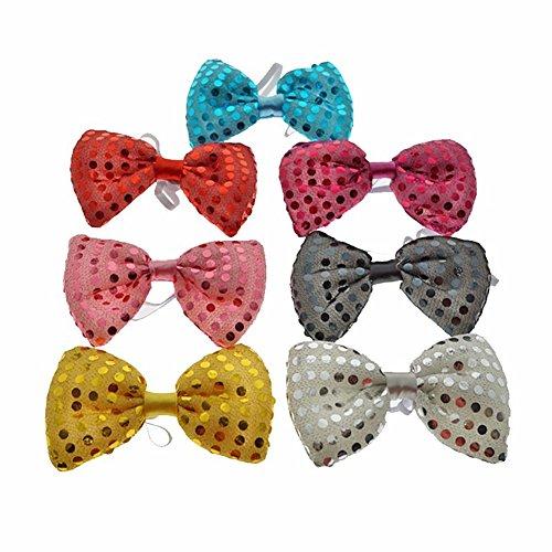 Pengyu LED Light Up Flashing Polka Dot Neck Bow Tie Halloween Xmas Wedding Party Supplies