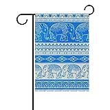 Dozili-Flagge, Boho Vektor, Ethnischer Elefant, Heimdekoration, Gartenflagge, wetterfest und doppelseitig, Polyester, bunt, 28