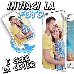 Idea Regalo - INKOVER Cover Custodia Personalizzata con Foto o Scritta a Piacere per iPhone 6 / 6S Protettiva Guscio Soft Case Bumper Trasparente Sottile Slim Fit Tpu Gel Morbida APPLE iPhone 6 / 6S