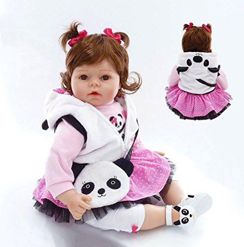 Pursue Baby Weicher Körper Lebensechte Babydoll mit Haar Mädchen Lisa, 20-Zoll Lebensechte Reborn Babypuppe für Umarmung gewichtet