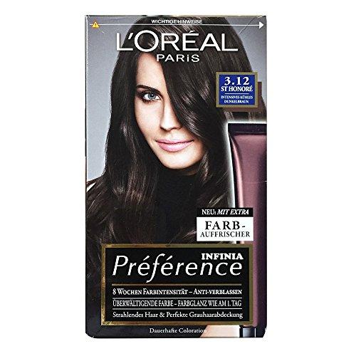 l oral paris recital preference n 312 sthonor freddo marrone scuro premium intensiv - Coloration Preference