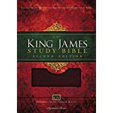 KJV Study Bible, Large Print, Bonded Leather, Burgundy, Red Letter: Second Edition (Nelson KJV Signature)