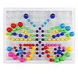 Fajiabao 296piezas - Junta de educación de aprendizaje Inteligencia Bloques de construcción, colorido de champiñón, juego para los niños de 4años