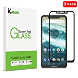 KATIAN [2 Pack Screen Protector for Motorola one power, (not fit Motorola one), 2.5D High Definition 0.3MM 9H Hardness Tempered Glass, [Ultra-thin] Protective Film Cover (Black)