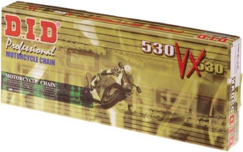 D.I.D 530 VX 108 ST O - Catena passo 530-50 a 108 maglie, versione VX aperta con giunto a ribattere ZJ, con X-Ring, colore: acciaio