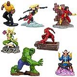 Disney Marvel UNIVERSE Exclusive 7Piece PVC Figurine Playset Hulk, Daredevil, SpiderWoman, Dr. Strange, Ms. Marvel, Luke Cage Iron Fist by Disney