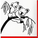 Tianpengyuanshuai Arbre Sticker Mural Mignon Koala Sticker Mural pour Chambre bébé Chambre Vinyle décoratif décalcomanie Amovible Art 42x43cm
