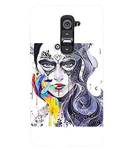 PRINTSWAG GIRL ART Designer Back Cover Case for LG G2
