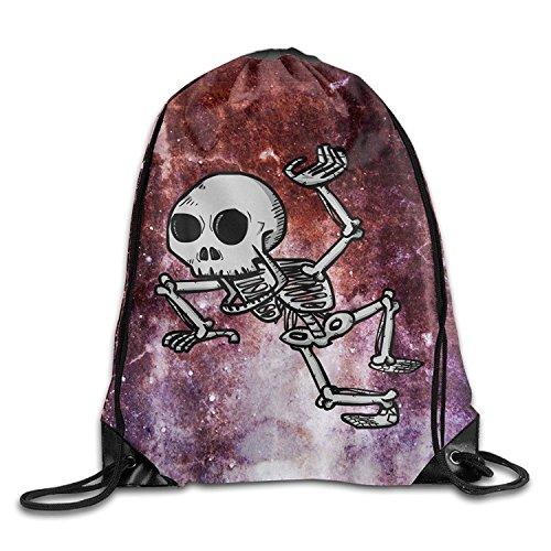 Yesliy Menschliches Skelett Cool Kordelzug Rucksack String Bag