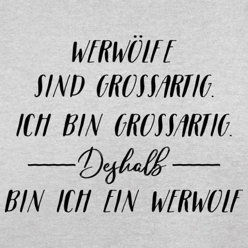 Ich Bin Grossartig - Werwolf - Herren T-Shirt - 13 Farben Hellgrau