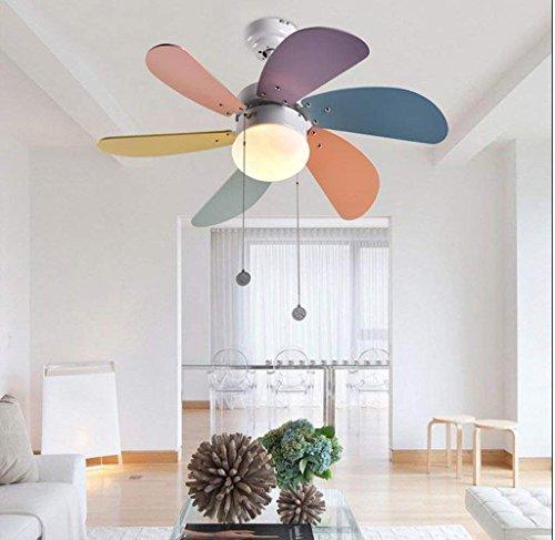 Dsj candeliere creativo per bambini, ventilatore a soffitto, lampadario fan camera da letto, illuminazione soggiorno ristorante, luce ventilatore a soffitto a led