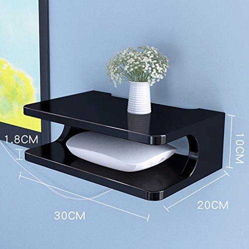 , Wohnzimmer Schlafzimmer Studie WiFi Rack TV-Set-Top-Box, Projektor Ständer Lagerregal (Color : Black) ()