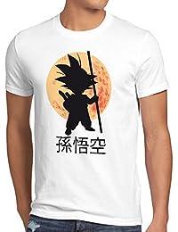 style3 Goku Dragon Moonlight Herren T-Shirt ball