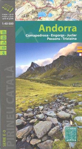 Andorre (Pyrnes) 1:40.000 carte de randonne topographique ALPINA