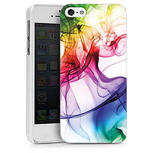 Apple iPhone 6 Tasche Hülle Flip Case Farben Bunt Nebel Hard Case weiß