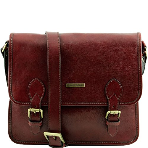 Tuscany Leather - TL Postina - Sacoche facteur en cuir Marron foncé - TL141288/5 Marron