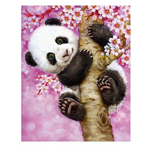 Tiere Panda Diamant Stickerei Kreuz Stich Bild Vollquadrat Diamant Mosaik Kits 20 * 25cm (Panda Kit)