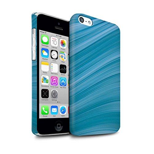 STUFF4 Matte Snap-On Hülle / Case für Apple iPhone 5C / Martini-Glas/Alkohol Muster / Teal Mode Kollektion Abstrakte Welle