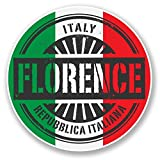 2 x 30cm/300 mm Florence Italie Autocollant de fenêtre en verre Voiture Van Locations #6107