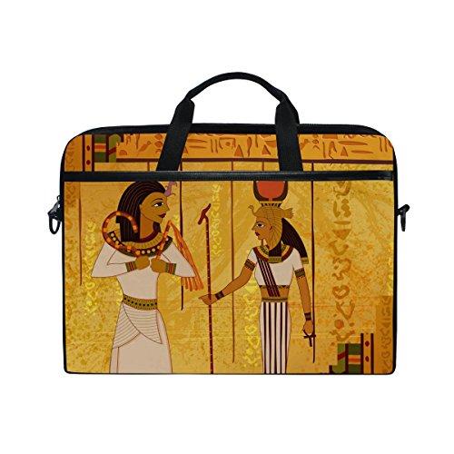 jstel Antik Ägyptische und hieroglyphenschrift Laptop Schulter Messenger Tasche Fall Sleeve für 35,6cm zu 39,6cm mit verstellbarer Notebook Schultergurt (Ägyptische Tasche)