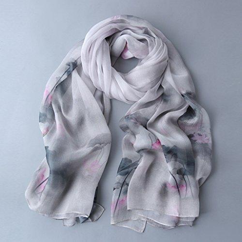 serviette de plage Ladies Print Soie Soie Longue chemise Éclave solaire Echarpe sauvage châle ( Couleur : #6 ) #11