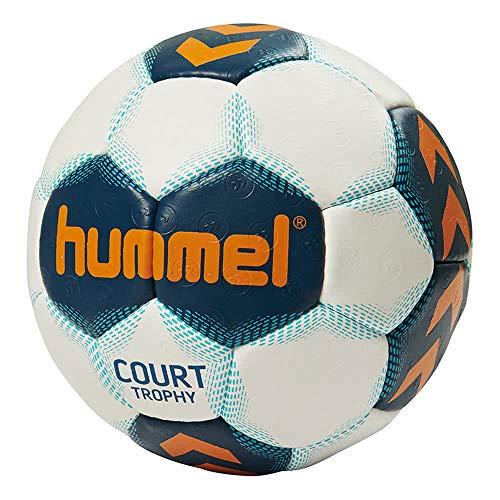 hummel Kinder Court Trophy Handball, White/Poseidon/Oriole, 1