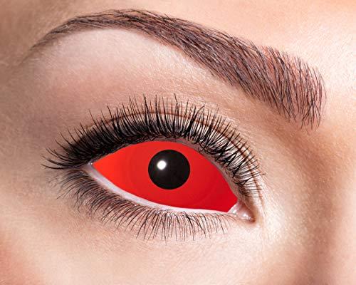 Eyecatcher - Farbige Kontaktlinsen für 6 Monate, rote Sclera, 2 Stück, BC 8.6 mm