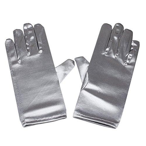 RUNHENG Damen handgelenk länge satin handschuhen, One size, ()
