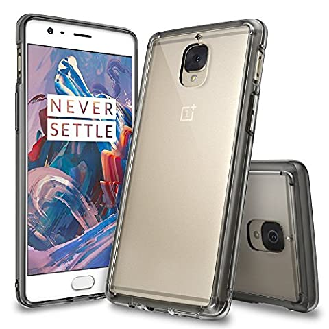 OnePlus 3 / OnePlus 3T Case, Ringke [FUSION] Crystal Clear PC Back TPU Bumper [Drop (Shell Accenti)