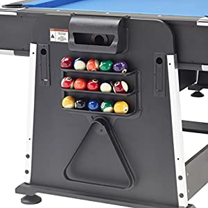 Mightymast Revolver 3-in-1 Pool/Air Hockey/Table Tennis Table - Black, 7 ft Review 2018 from Mightymast