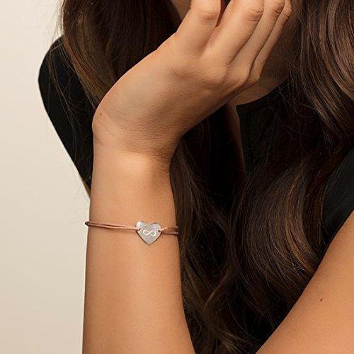 Thomas Sabo Damen-Armband Little Secrets Herz 925 Sterling Silber Beige LS004-173-19-L20v