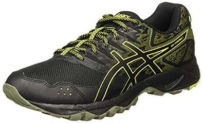 ASICS Gel-Sonoma 3 Mens Running Trainers T724N Sneakers Shoes (UK 10.5 US 11.5 EU 46, Black Sulphur Spring 9089)