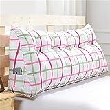 WEBO HOME- Sofa Bettseite Büro Große Triangle Kissen Taillenschutz Nackenschutz Lendenkissen Rückenkissen -Kissen ( Farbe : C , größe : 100*20*47cm(3 Buckle) )