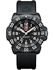 Luminox 3051 - Reloj analógico de caballero de cuarzo con correa de plástico negra - sumergible a 200 metros