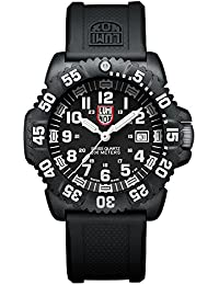 Luminox Navy SEAL Colormark  Men's Quartz watch with Black dial featuring LLT Luminox light Technology 44 millimeters Carbon Compound case and Black PU Strap  XS.3051