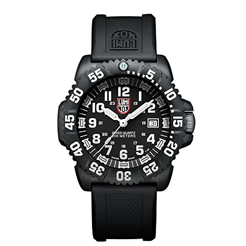 Luminox Navy SEAL Colormark Herren-Armbanduhr Analog Quarz Kautschuk - LU3051 (Uhr Seal Navy)