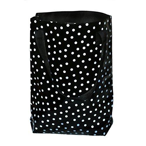 wasserabweisender Shopper / Beutel / Einkaufsbeutel / Tote bag aus Wachstuch Lunares schwarz