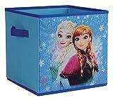 Fun House 712732Aufbewahrungsbox faltbar mit Griffen Eiskönigin Disney Polypropylen Blau 30x 3x 30cm
