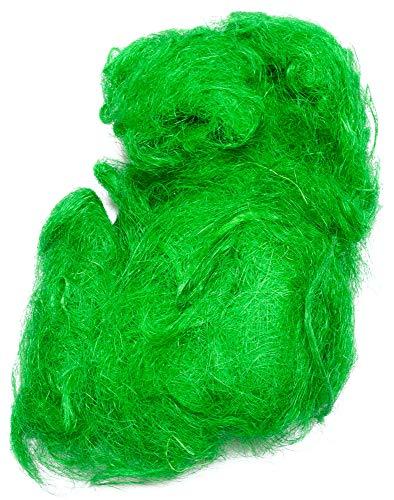 Sisal Feenhaar hellgrün apfelgrün 500g Sisalfaser Naturmaterial Sisalwatte Pflanzenfaser der Agave