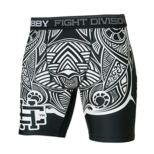 Extreme Hobby Moko Tribal Vale Tudo Compression Fight Shorts Durability & Rivalry. MMA Fightwear. Training. Kampfsport (Größe XXLarge)