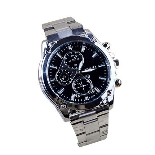 Männer Herren Watches,Moonuy Mode Business Uhren, Edelstahl Band Maschinen Sport Quarzuhr